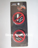 Carbon Fiber Vinyl Film badges pack - 4pair D NO SMOKING rubber sticker D Badge Emblem Decal Sticker D car sticker nice retail packing