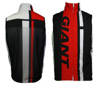 Wholesale 2014 GIANT black white red Men s cycling windbreaker vest windproof quick dry sportswear accept customize bike clothing