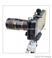 Universal 8X  8X Zoom Universal Telescope Long Focal Camera Lens for iPhone Mobile Phone with Mini Tripod Holder
