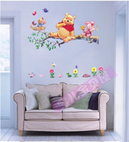 bear wallpapers - Cute Bear PVC Wall Stickers for kids room Wallpaper Home Decor Stickers for Bathroom