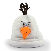 Wholesale Retail New cartoon movie Frozen Lovely OLAF plush hat toy the Snowman cap Plush Doll Stuffed Toy