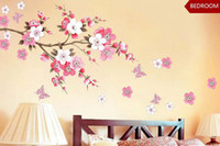 beds for small rooms - PLUM BLOSSOM Butterfly Flowers Wall Sticker Poster Removable Adhesive PVC Vinyl Decal Home DIY Art Decor Living Room Bedroom Bed