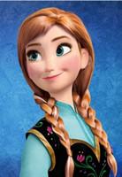 Wholesale Princess Dairy Queen Anna Hair Wigs Cartoon Frozen Cosplay Wig Ice Snow Queen Highlight Braid Hair Wear Hairpiece