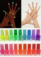 Pinks Nail Polish Gradient 2014 Fashion Special Hot Sale 5X Fluorescent Luminous Neon Glow In Dark Varnish Nail Art Polish Enamel 20 Colors #26037