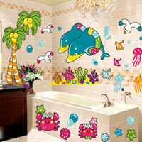 beautiful bathroom tile - 1set Removable Bathroom Tile Stickers amp Beautiful Sea Bathroom Wall Sticker For Promotion