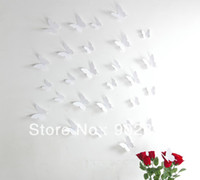 bending decorative - listed in stock wall stickers pack big small d PVC white Decorative butterfly can bend to vivid