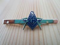 Wholesale Masonic Tie clip exquisite Fashion Accessories personality gift Ornaments metal Mason Freemason T01