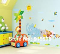 bears game live - Kids Wall Decal quot Cute Elephant Monkey Bear Play Game quot Nursery Kindergarten Wall Decor25 in cm Wall Sticker