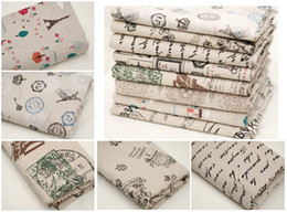 Wholesale 3X CM CM ZAKKA DIY Linen cotton fabric raw material home decoration Eiffel tower Flail flower for handmade article TH
