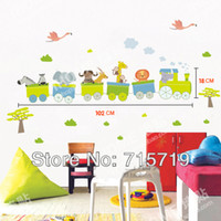 baby tv live - New d PVC jungle travel tv sofa background wall sticker baby room cartoon stickers small train wall stickers for kids room