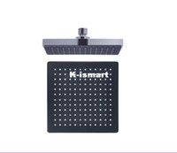 Auto-Thermostat Control Shower Heads Square Free Shipping 6 inch Black Square Polished Chrome Ceiling Overhead Top Rain Shower Head
