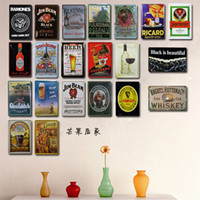beer pvc - Vintage metal painting poster bar ktv decorative painting mural beer X12 quot x30cm
