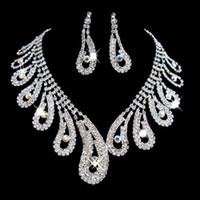 Celtic african jewelries - Hot Vintage Wedding Bridal Bridesmaid Jewelries crystal necklace earrings jewelry set
