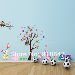 Wholesale SIA New Product Big size Wall Stickers x153cm Monkey Tree Animal Removable Kids DIY Decoration Home Decor Nursery Decal