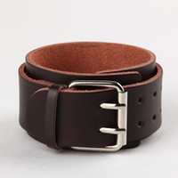 leather cuff bracelet - 2 Pin Buckle Belt Leather Bracelets Color Wide Fashion Lover Bracelet Wristband Cuff Best Gift WB013