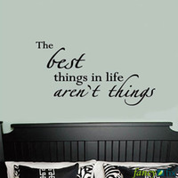 best life sayings - The Best things In life Are t Things quot vinyl wall lettering sticker quotes saying words art decal QS05