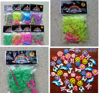 Charm Bracelets   Wholesale tinalou1986 Loom Rubber Bands 300 pcs S clip Glow in Dark Rubber Band (Multi-color) - rainbow loom bands