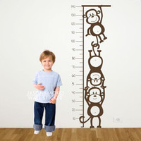 baby height chart - Monkey Height Chart Wall Decal Children s Room or Baby Nursery Vinyl Sticker Vinyl Wall Art Decal CM