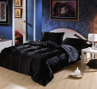 Wholesale New Queen Bedding Quilt Duvet Cover Sets Pc silk Black
