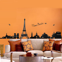 animal tower wall sticker - 1set cm I Love Paris Living Room Vinyl Wall Art Decals Eiffel Tower Decoration Stickers For Kids Room Wallpapers D Decor