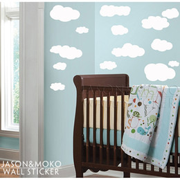 Wholesale Nursery Wall Stickers Cloud Wall Decals Children Wall Decals babies quotes new products for CM