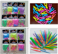 Charm Bracelets   Loom Rubber Bands Glow in Dark rainbow loom bracelet 300pcs+1 hook+12 S clip Rubber Band (Multi-color) Christmas gifts