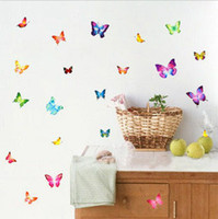 bathroom wall products - Beautiful butterflies sitting room wall stickers Home Decorative Poster paster bathroom products Wall decal