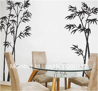 bamboo wallpaper - 60cm cm tree wall sticker Bamboo wallpaper poster large wall stickers home decoration vinyl decals