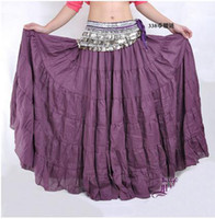 Belly Dancing Ruffled Cotton New Fashion Belly dance costumes Tiered Skirt 7 Gypsy Tribal Dancing Dcu