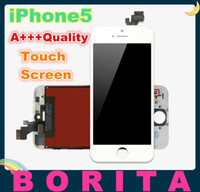 For Apple iPhone LCD Screen Panels iphone 5 lcd screen 10pcs Grade A +++ Quality LCD for iPhone 5 5G LCD Display Touch Screen Digitizer + Frame Assembly New Replacement No Dead Pixel Spot