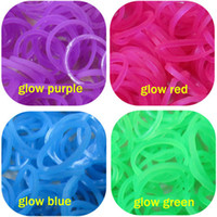 Wholesale Rainbow Loom Refill Rubber Bands amp Clips Neon Glow in the Dark colors