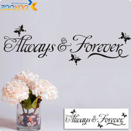 ZooYoo Butterflys With Always&Forever Vinyl Wall Art Decals Quotes Sayings Home Decor Christmas Wall Stickers