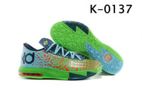 Low Cut Men Spring and Fall Branded Basketball Shoes KD VI 6 LIGER Electric Green Night Factor Atomic Orange Kevin Durant Basket Ball Boots Sports Shoes Mens Athletics
