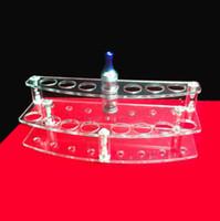 Wholesale Transparent Acrylic Electronic Cigarette Display Stand E Cigarette Detachable Holder Ego Battery Atomizer E Liquid Lipstick Pen Holder