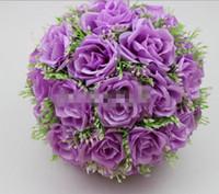Wholesale cm quot Gypsophila Artificial Kissing Pomander Rose Flowers Ball Bouquet Wedding Party Decoration