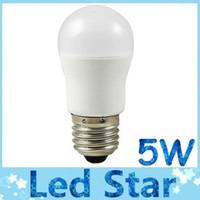 CE ROHS UL E27 5W LED Globe Lumières 270 Angle 400 Lumens High Power E26 B22 peut être obscurci LED Spot Ampoules Lumières cool blanc / blanc chaud AC 110-240V