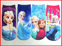 Wholesale Fedex EMS DHL Ship Newest Pairs Baby Children Frozen Cartoon Socks Girls Frozen Elsa Princess Stocking Socks for T Color Melee