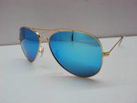 Wholesale Hot selling men s women s fashion sunglasses Metal frame mm glass lens Brand designer sunglasses With Box