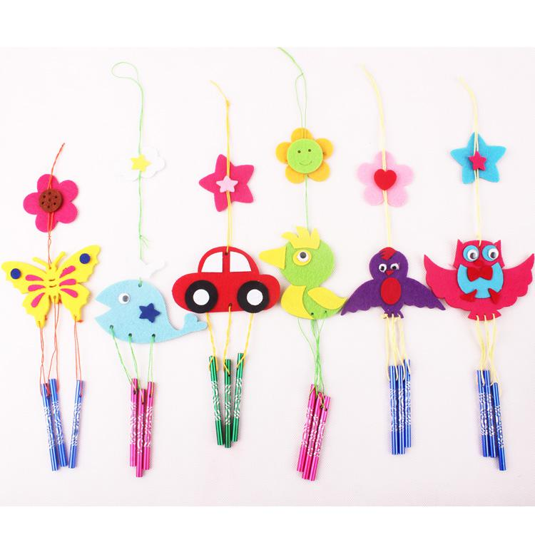 2017 kids handmade diy cloth wind chimes wind bell for Homemade wind chimes for kids
