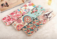 For Apple iPhone PU leather For Christmas Wholesale - Fashion Wallet Leather Case Cover With Credit Card Holder For iphone 4 4S 5 5S samsung galaxy S3 S4 S5 NOTE 2 NOTE 3