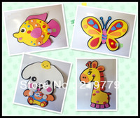 foam puzzle - 20Designs Kids DIY Cartoon Animal D EVA Foam Sticker Wall stickers Handmade EVA Foam Puzzle Toys Educational Toys Children