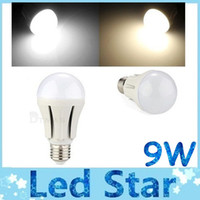 Haute Qualité E27 E26 9W Dimmable Led Ampoules Globe Lampe 270 Angle blanc froid / blanc chaud LED spots 110-240V + CE ROHS UL CSA