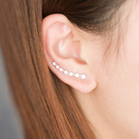 Silver silver - Aivni New sterling silver ear cuffs solid sterling silver earring for women jewelry Eay1163