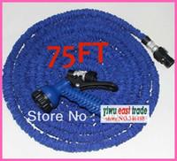free fedex 50pcs lot 75ft Garden hose with Spray Nozzle expa...
