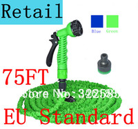 plastic water nozzle - retail ft Garden hose with Spray Nozzle expandable blue water hose Free high quality