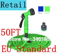 pocket hose - FT Expandable Garden Hose With Sprayer Nozzle Pocket Hose green blue color