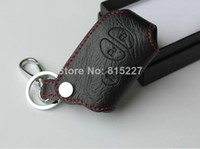 Wholesale 2014 Hot Promotion Car Key Chain Leather Key Case Bag Remote Cover for Toyota Highlander Camry