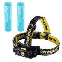 Ultrafire 800lm LED Flashlight Free Shipping!Nitecore HC90 Cree XM-L2 T6 RGB LED torch USB Rechargeable Headlight 900 Lumens flashlight+2*3400 mAh Battery