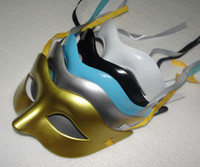 Wholesale Lowest Prices Mask Venetian mask masquerade party supplies plastic half face mask supplies Mix Color