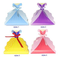 Wholesale Princess Wedding Dress Gown Favor Box Favors Bags Birthday Favor Boxes Party Gift Boxes for Candies